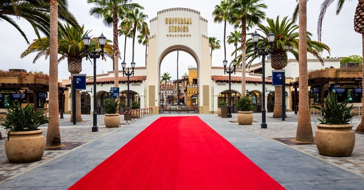 universal studios hollywood reopening red carpet