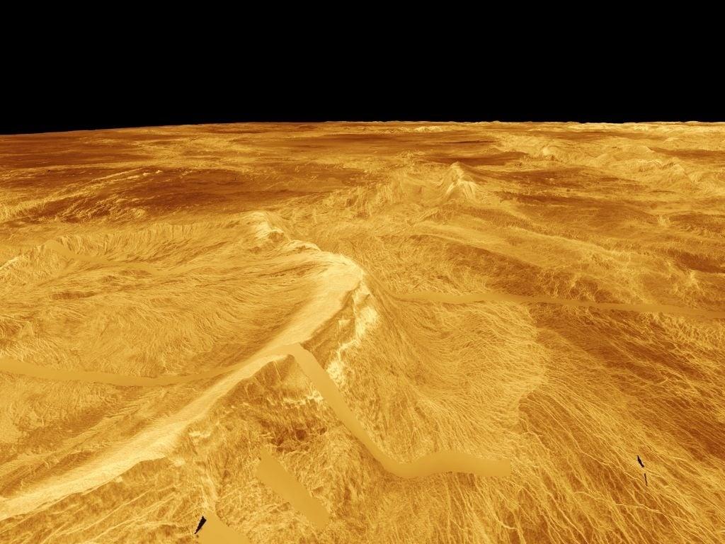 venus surface planet