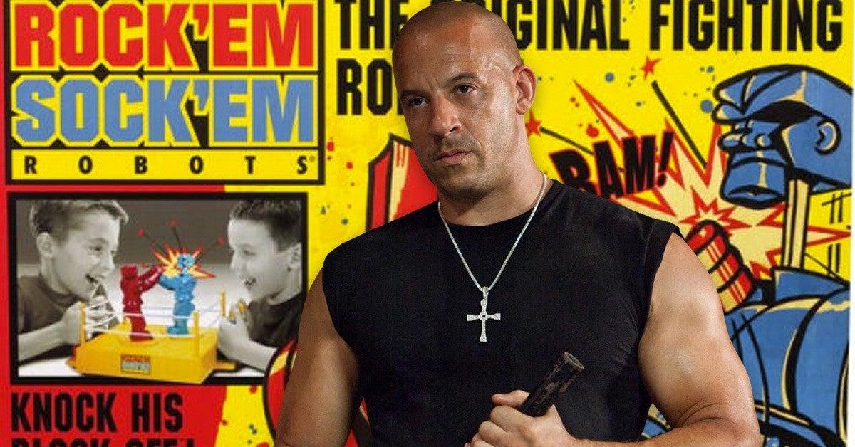 Vin Diesel Rock Em Sock Em Robots Movie Live Action Announced