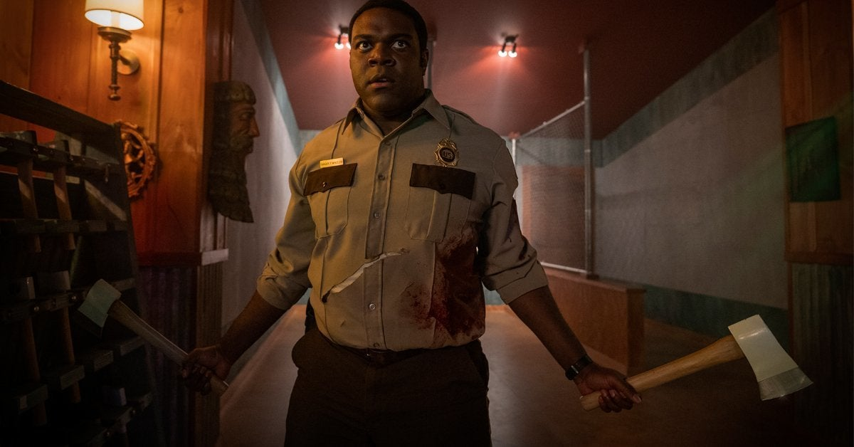 werewolves within movie sam richardson
