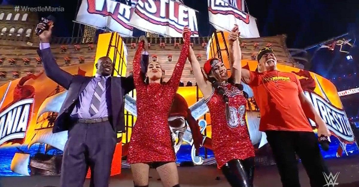 WWE-WrestleMania-Bella-Twins-Bayley
