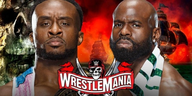 WWE-WrestleMania-Big-E-Apollo-Crews-Drum-Fight