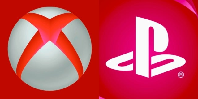 xbox playstation red collage