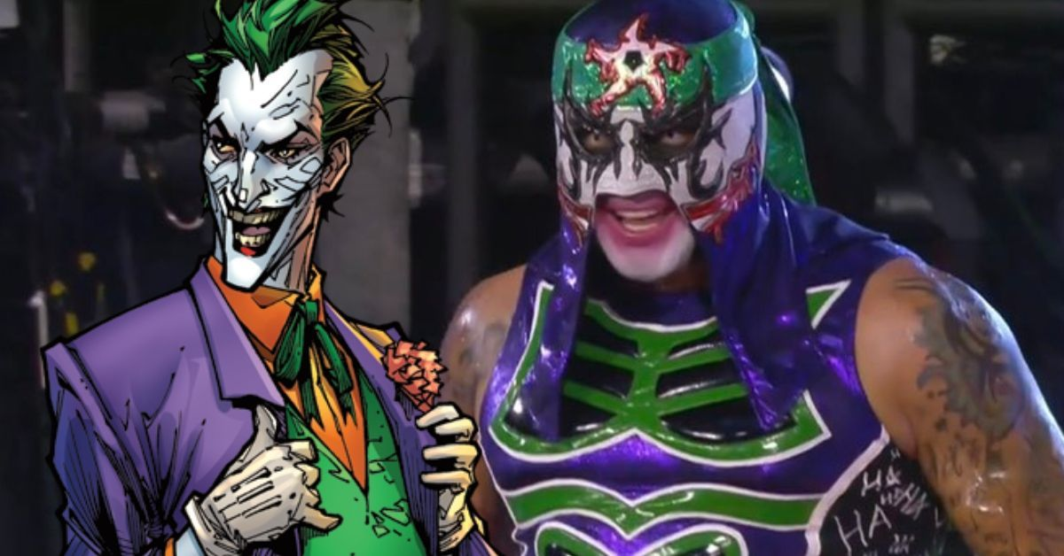 AEW Double or Nothing Penta El Zero Miedo DC Comics Joker Gear