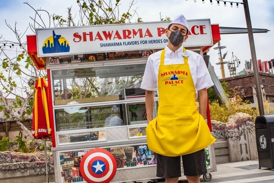 Avengers Campus Shawarma Palace Food Cart
