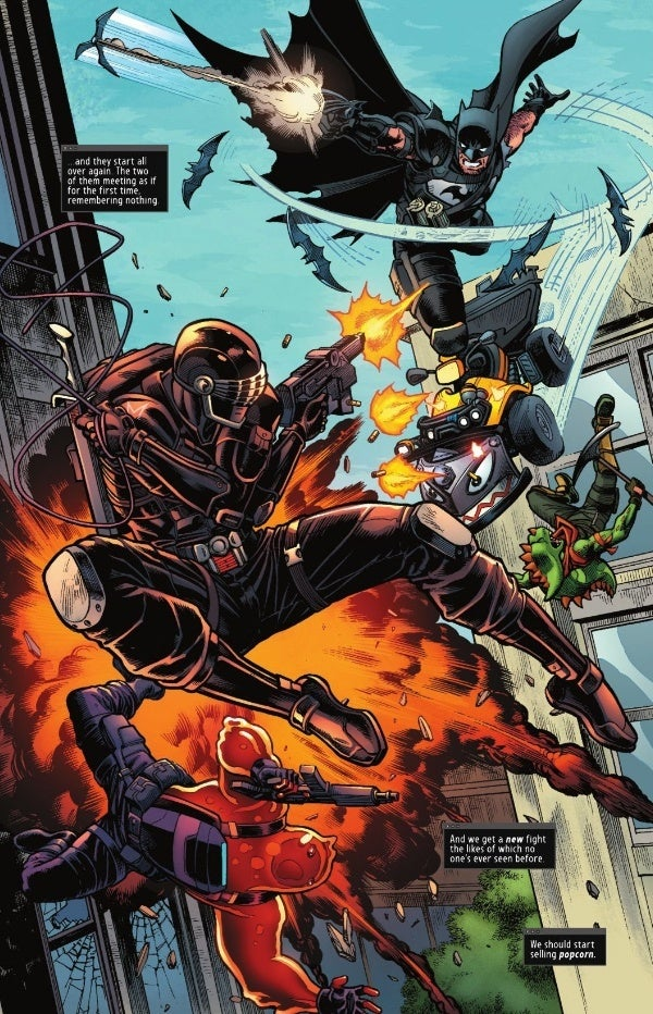 Batman vs Snake Eyes Fortnite Comics