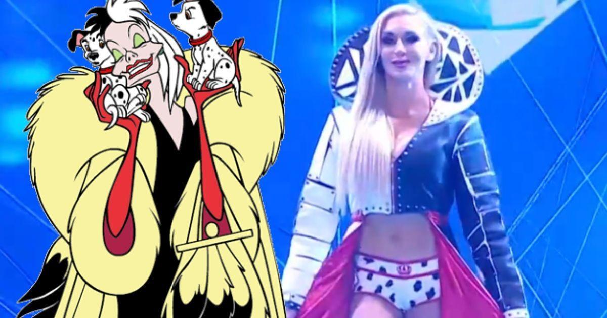 Charlotte Flair Disney Cruella Gear WWE WrestleMania Backlash