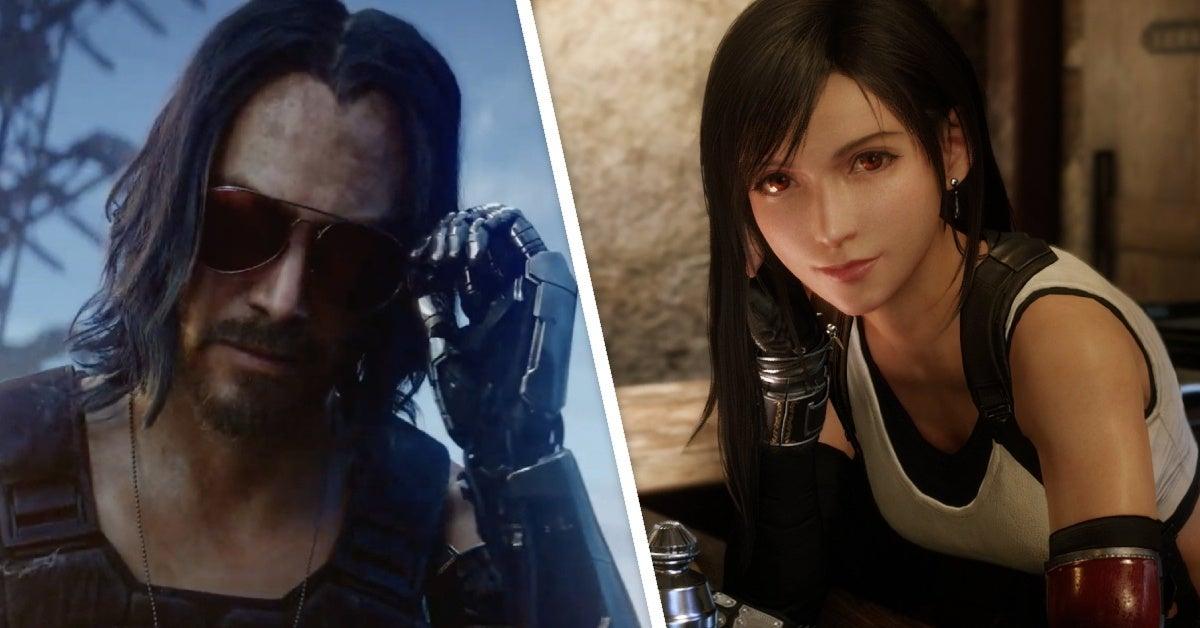 cyberpunk 2077 final fantasy 7 tifa