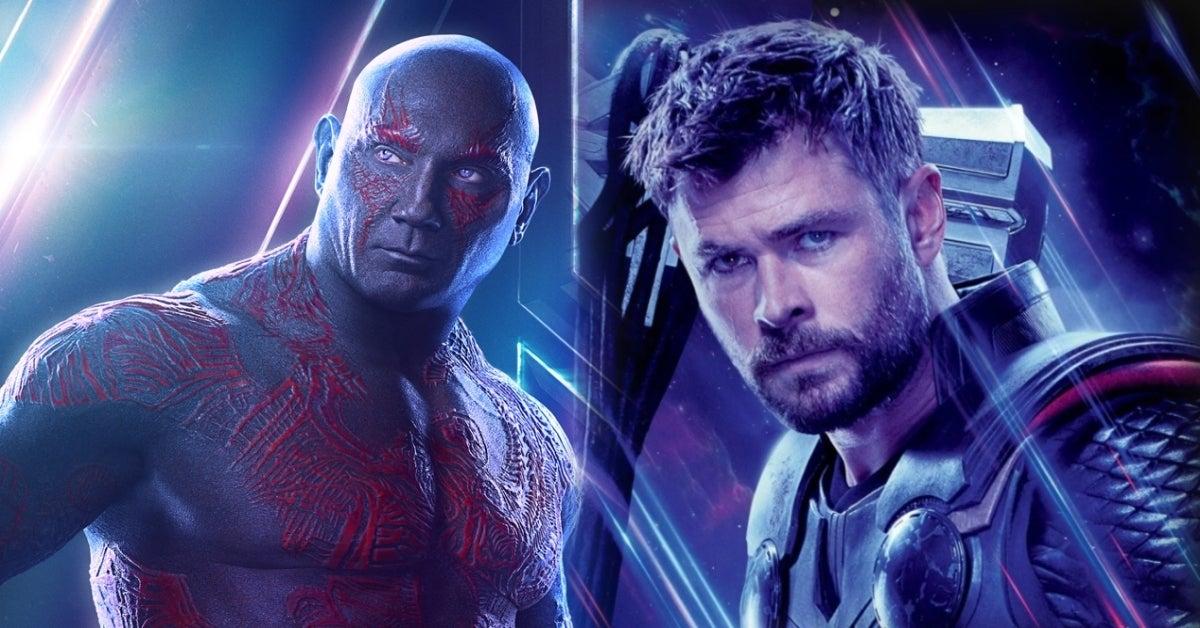Dave Bautista Drax Chris Hemsworth Thor