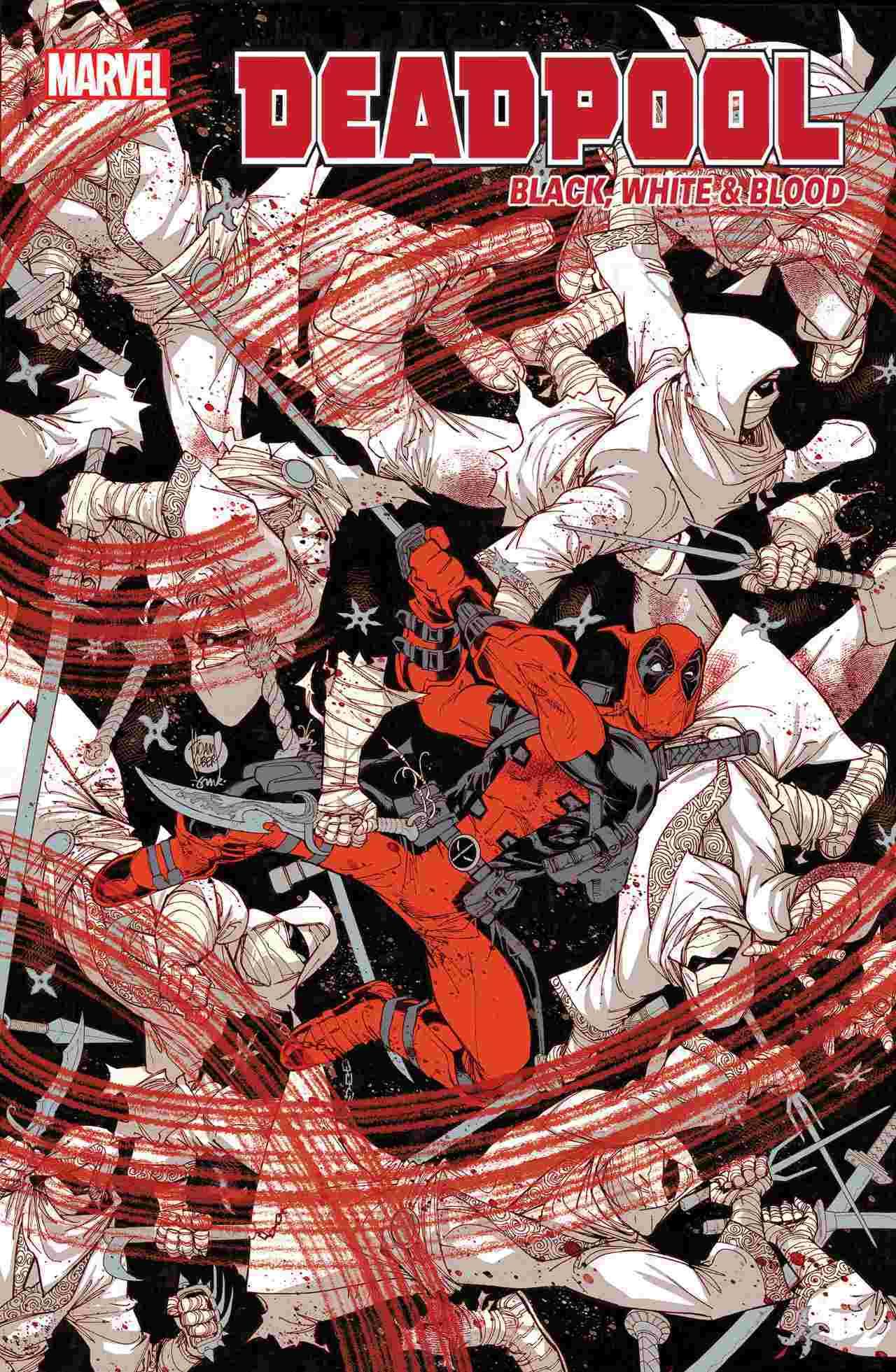 Deadpool Black White Blood 1
