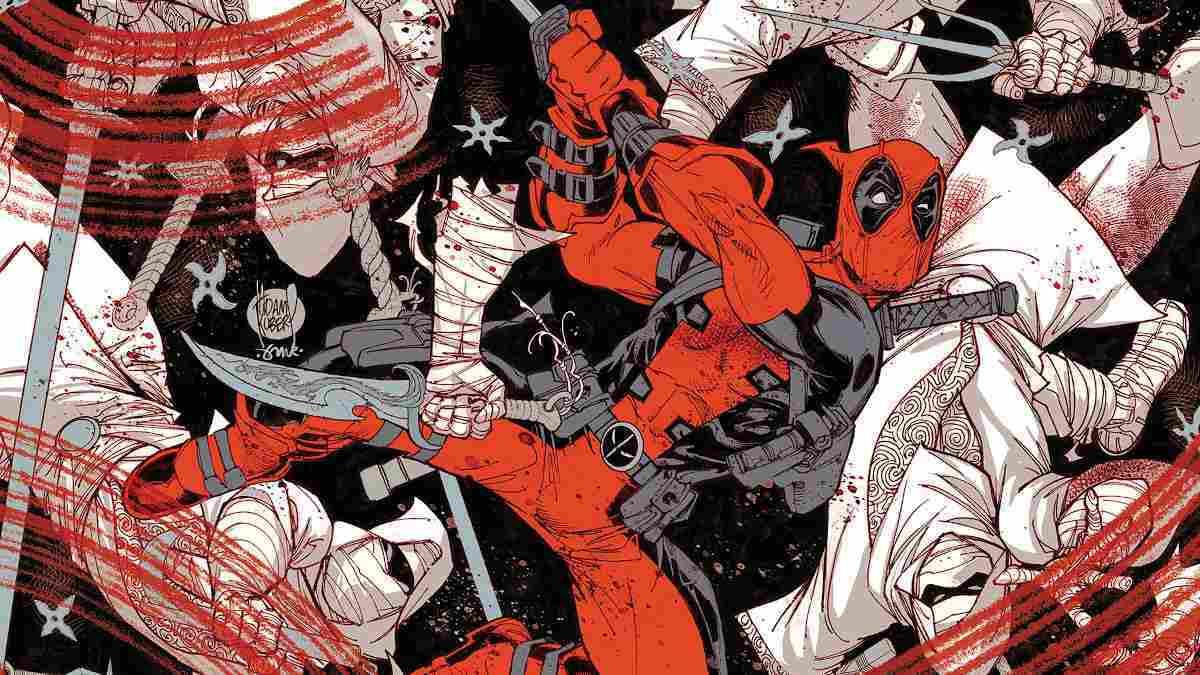 Deadpool Black White Blood