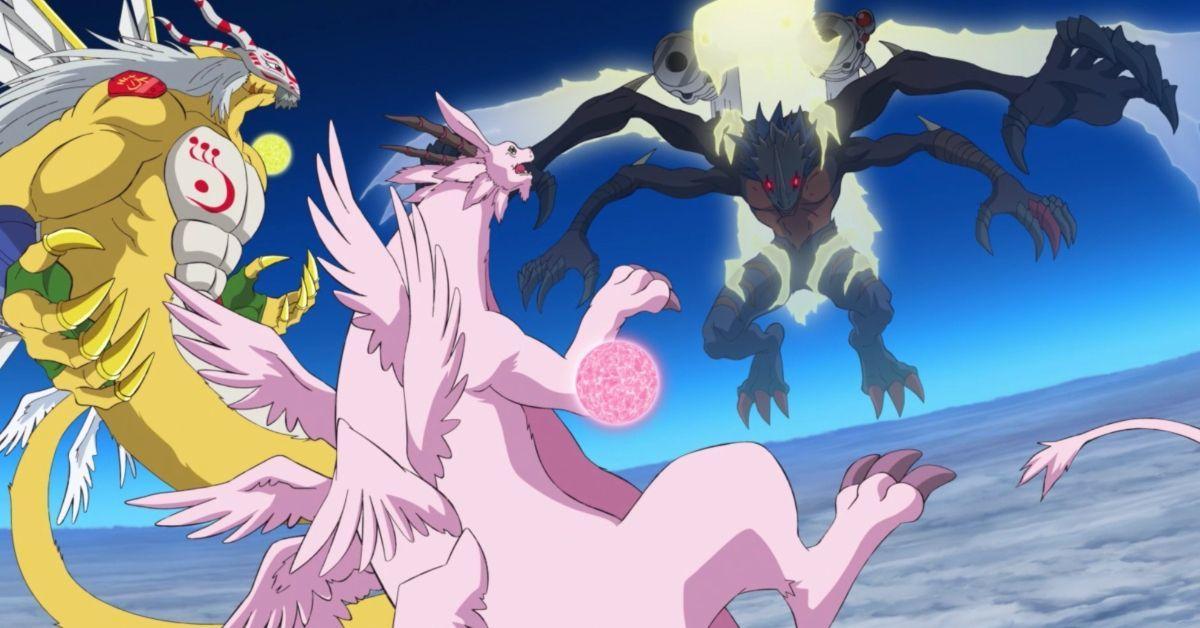 Digimon Adventure Goddramon Holydramon Millenniumon Fight