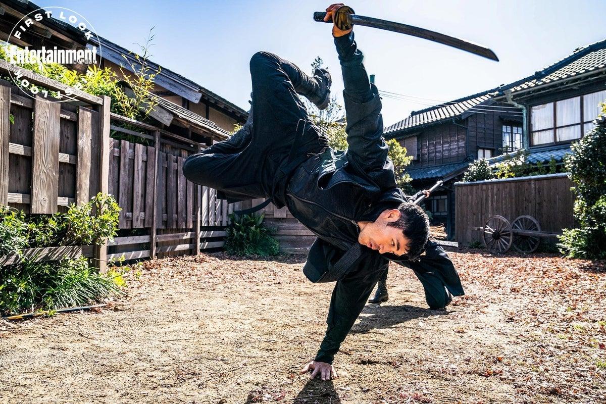 Henry Golding Morning Light Sword in Snake Eyes Movie