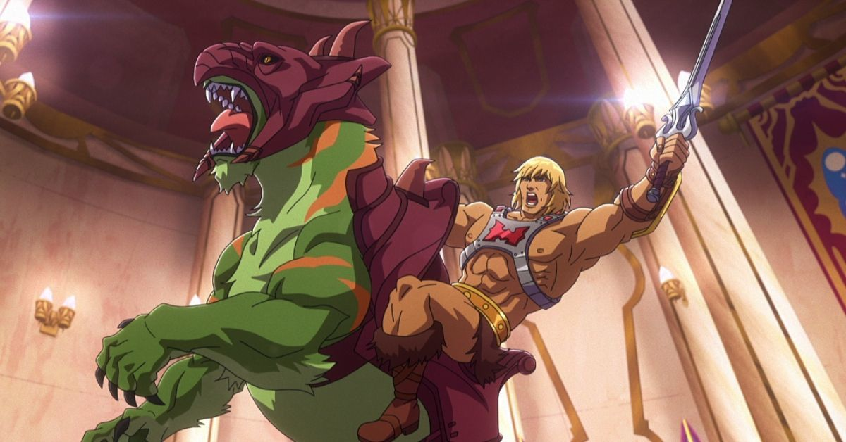 Masters of the Universe Revelation He-Man Battle Cat Netflix Kevin Smith