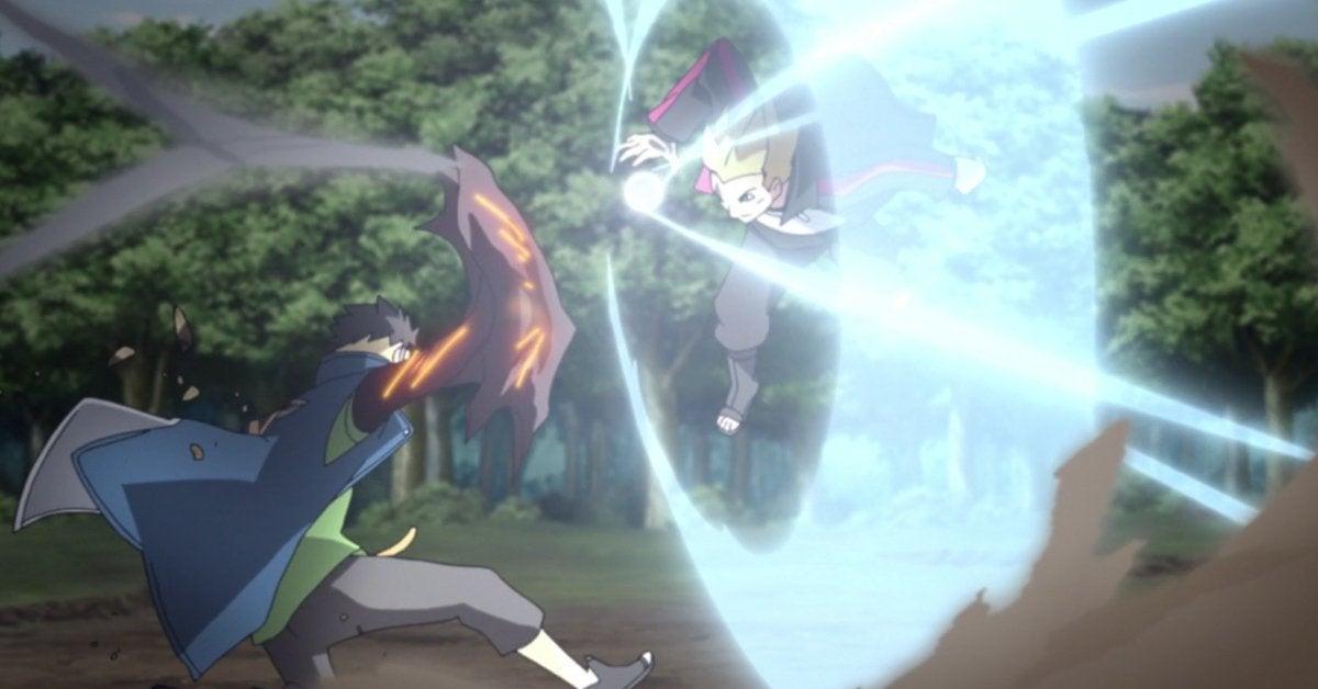 Naruto Boruto Kawaki Karma Fight Anime