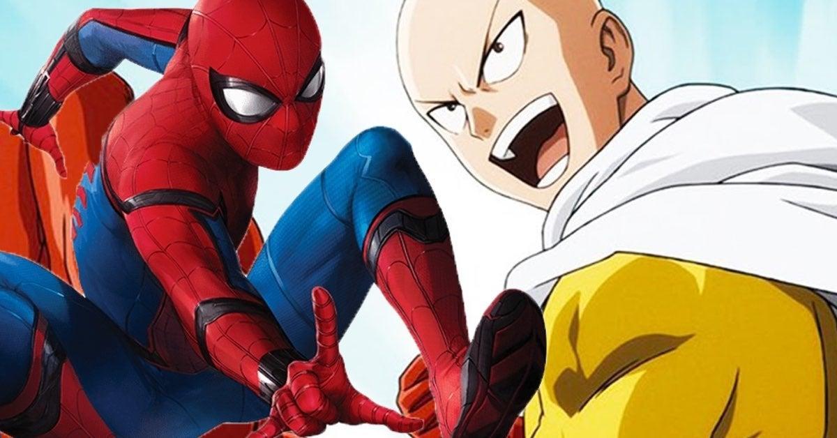 one punch man spider man