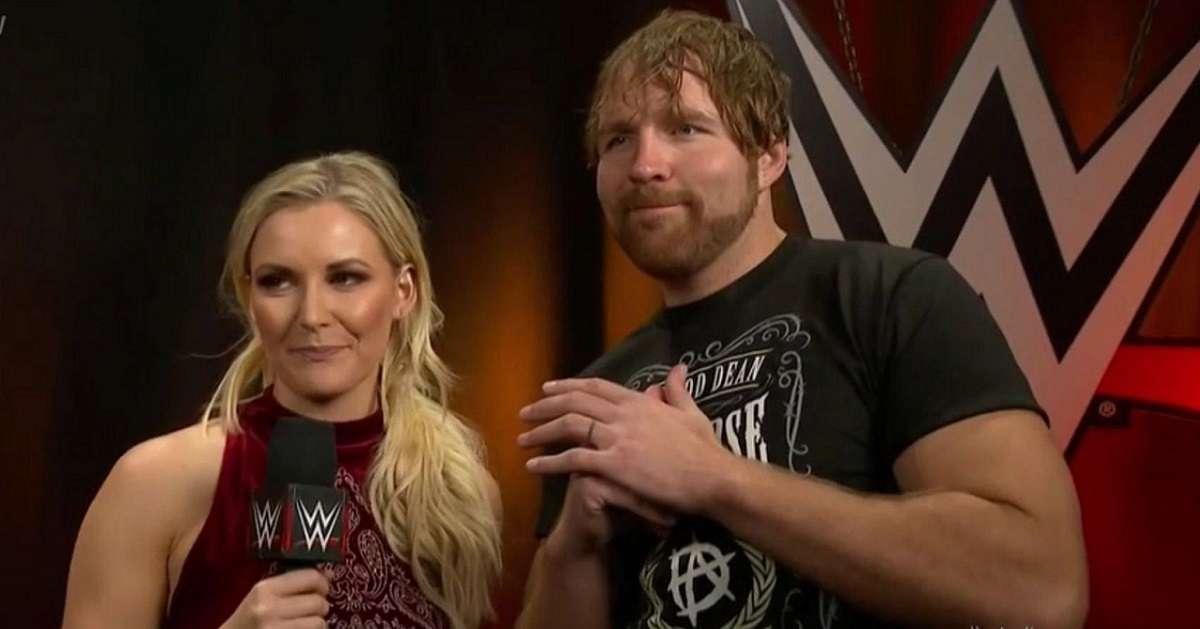 Renee Young Jon Moxley WWE