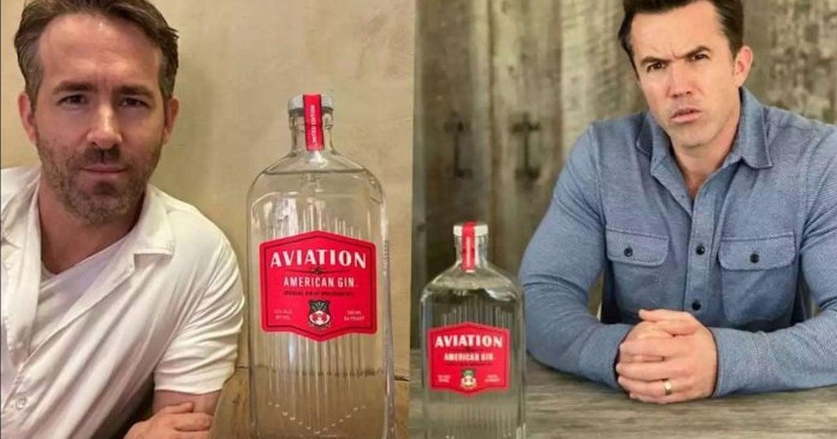 Ryan Reynolds Rob McElhenney aviation gin