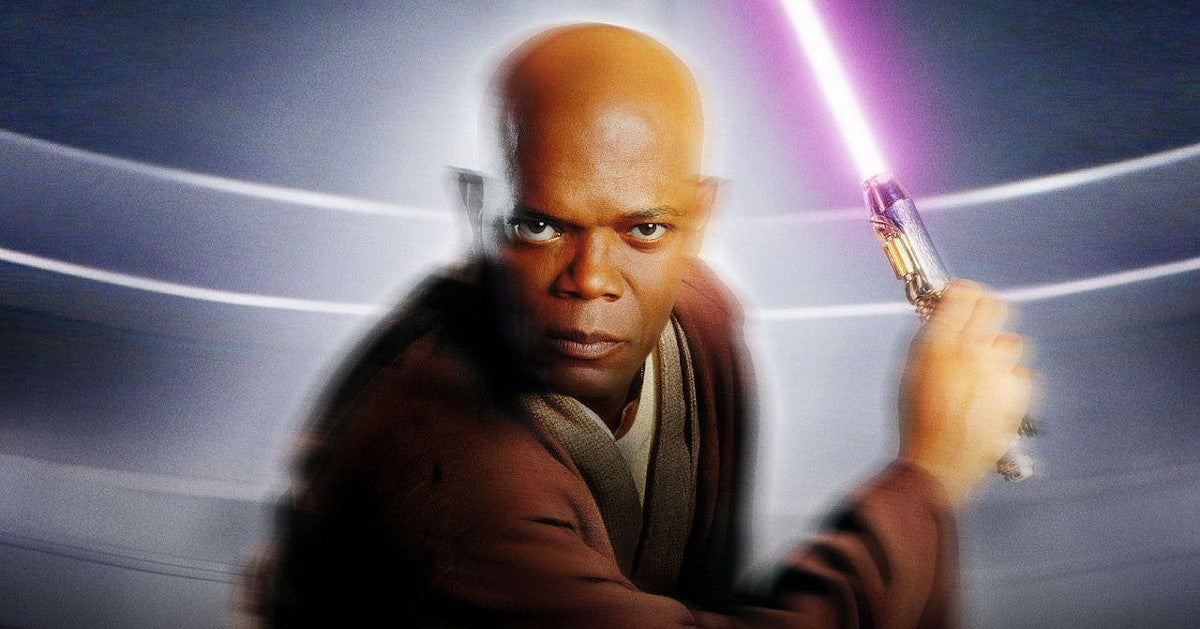 Samuel Jackson Celebrates Star Wars Day 2021 Mace Windu Shirts