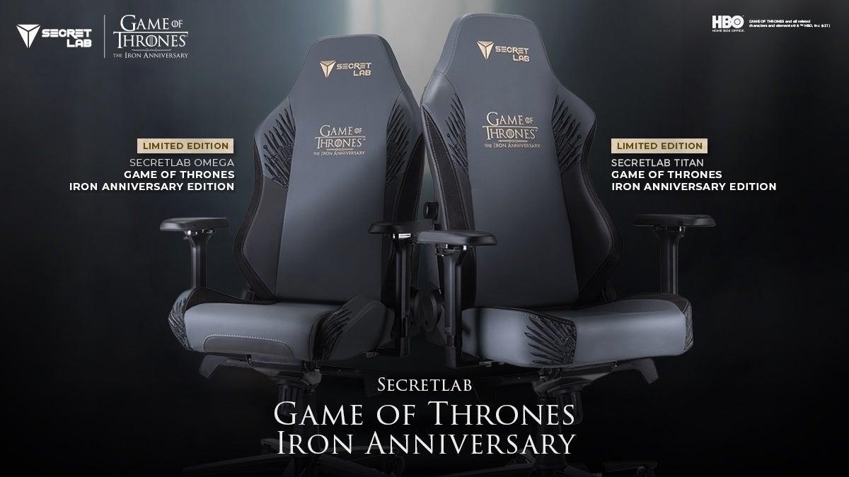 Secretlab Game of Thrones Iron Anniversary Edition (main)