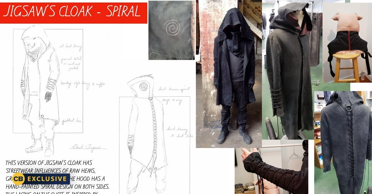 spiral from the book of saw jigsaw costume design header