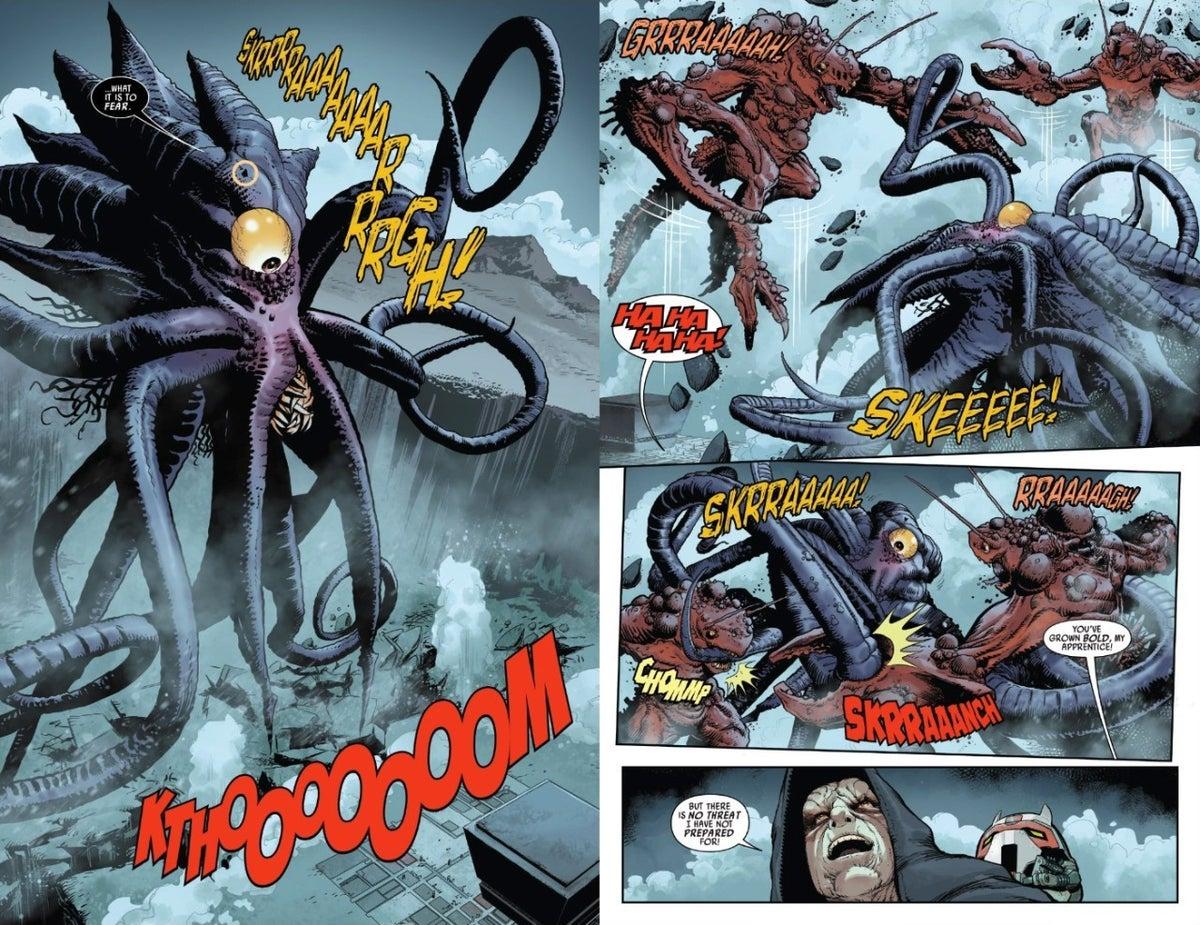 Star Wars Darth Vader Comic Palpatine Monster Duels