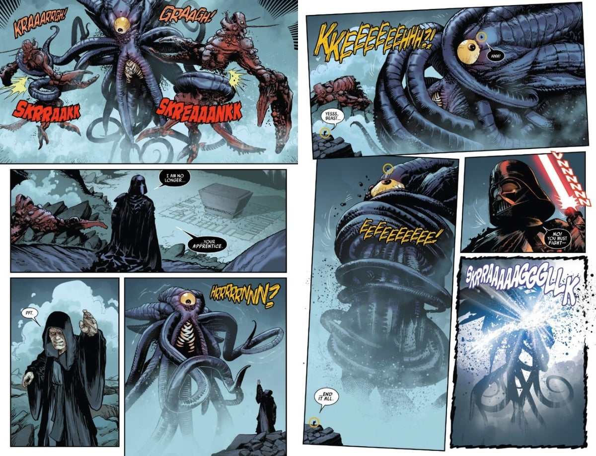 Star Wars Darth Vader Comic Palpatine Monster Duels_2