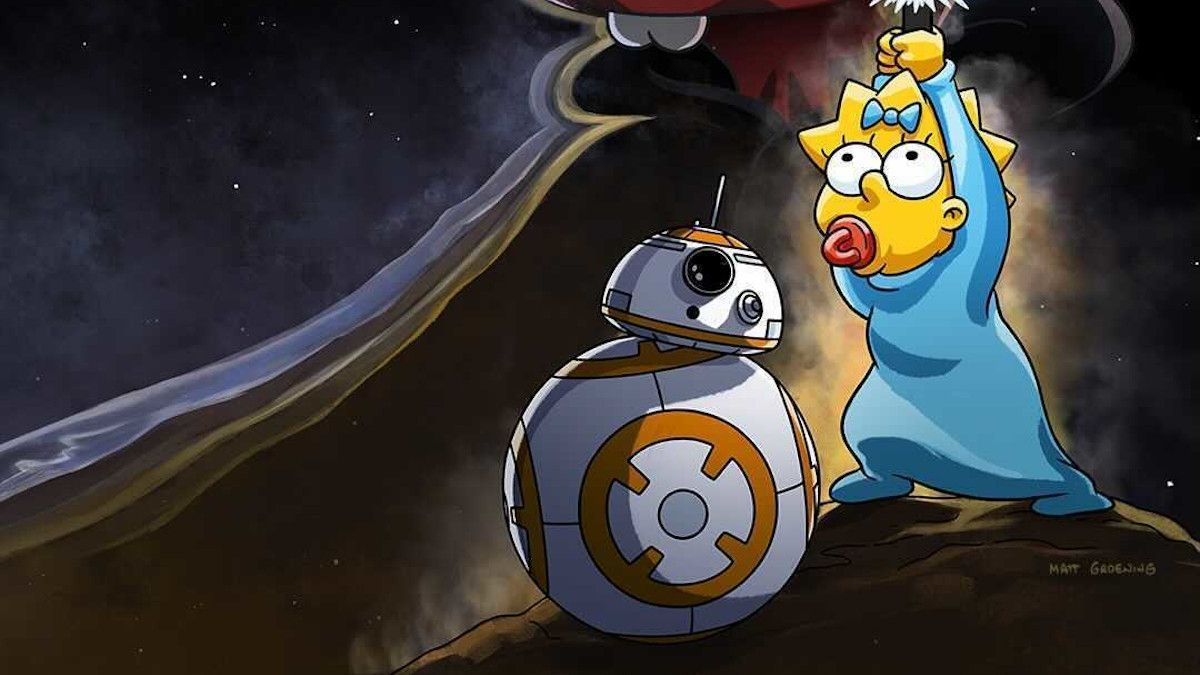 Star Wars Day Maggie Simpsons In The Force Awakens From Its Nap