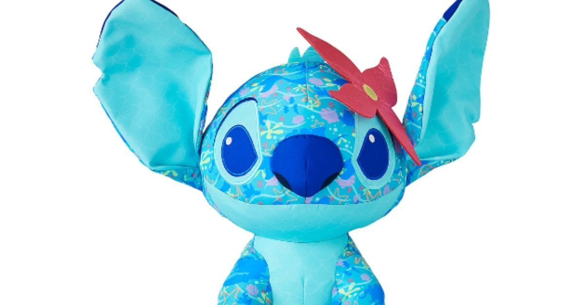 Stitch Crashes Disney The Little Mermaid Plushie