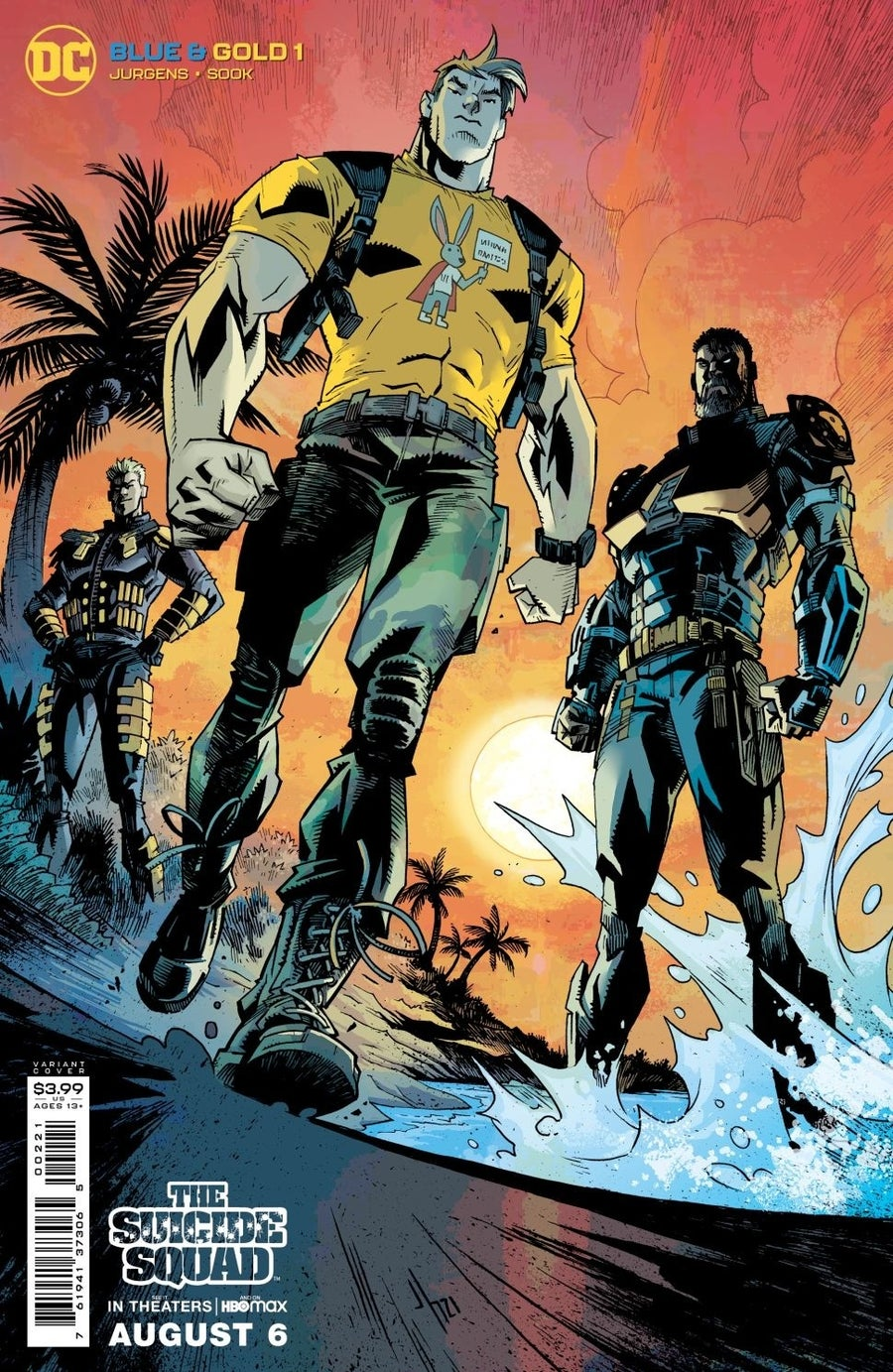 the suicide squad variant covers blue and gold 2