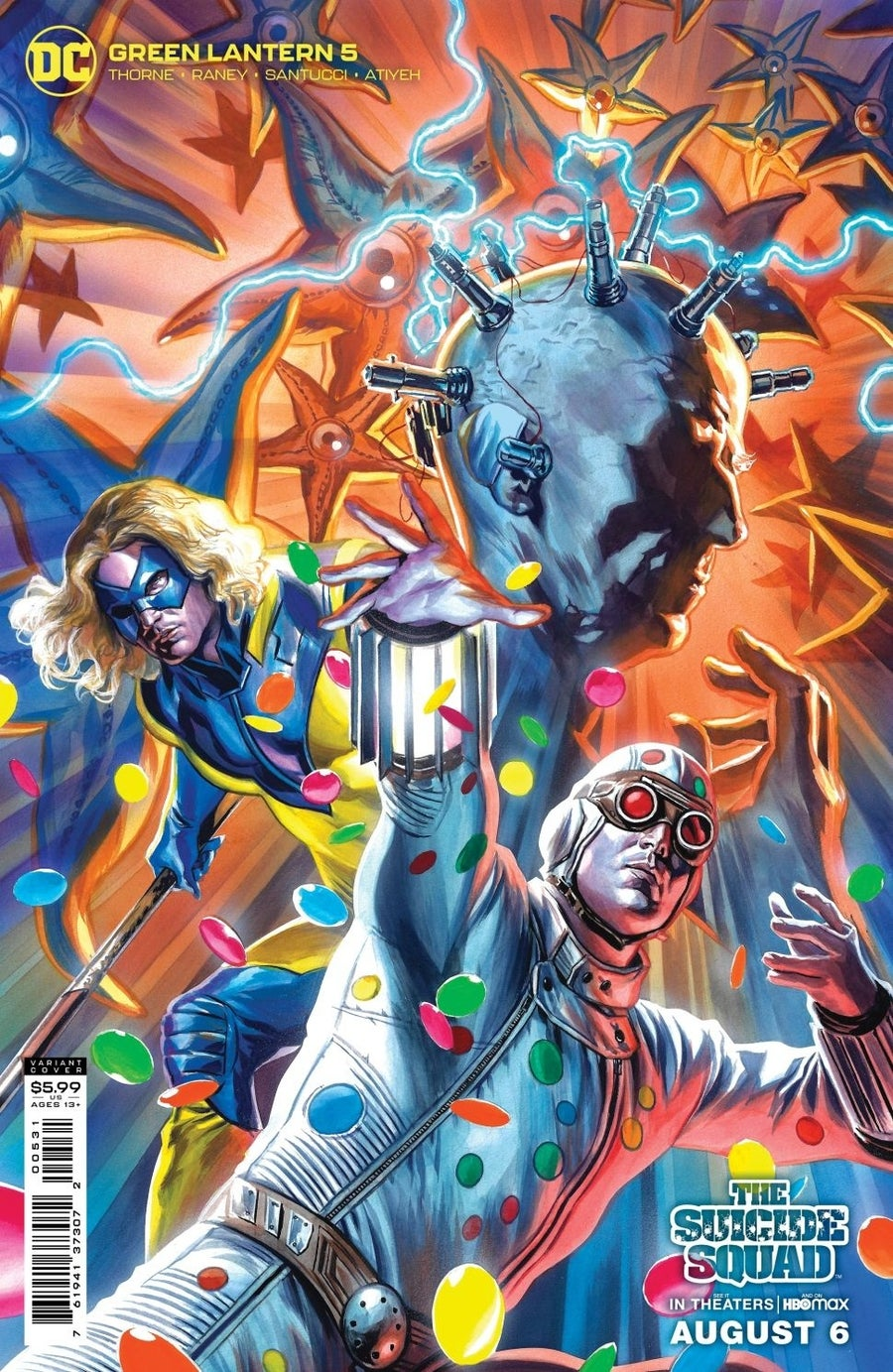 the suicide squad variant covers green lantern 5
