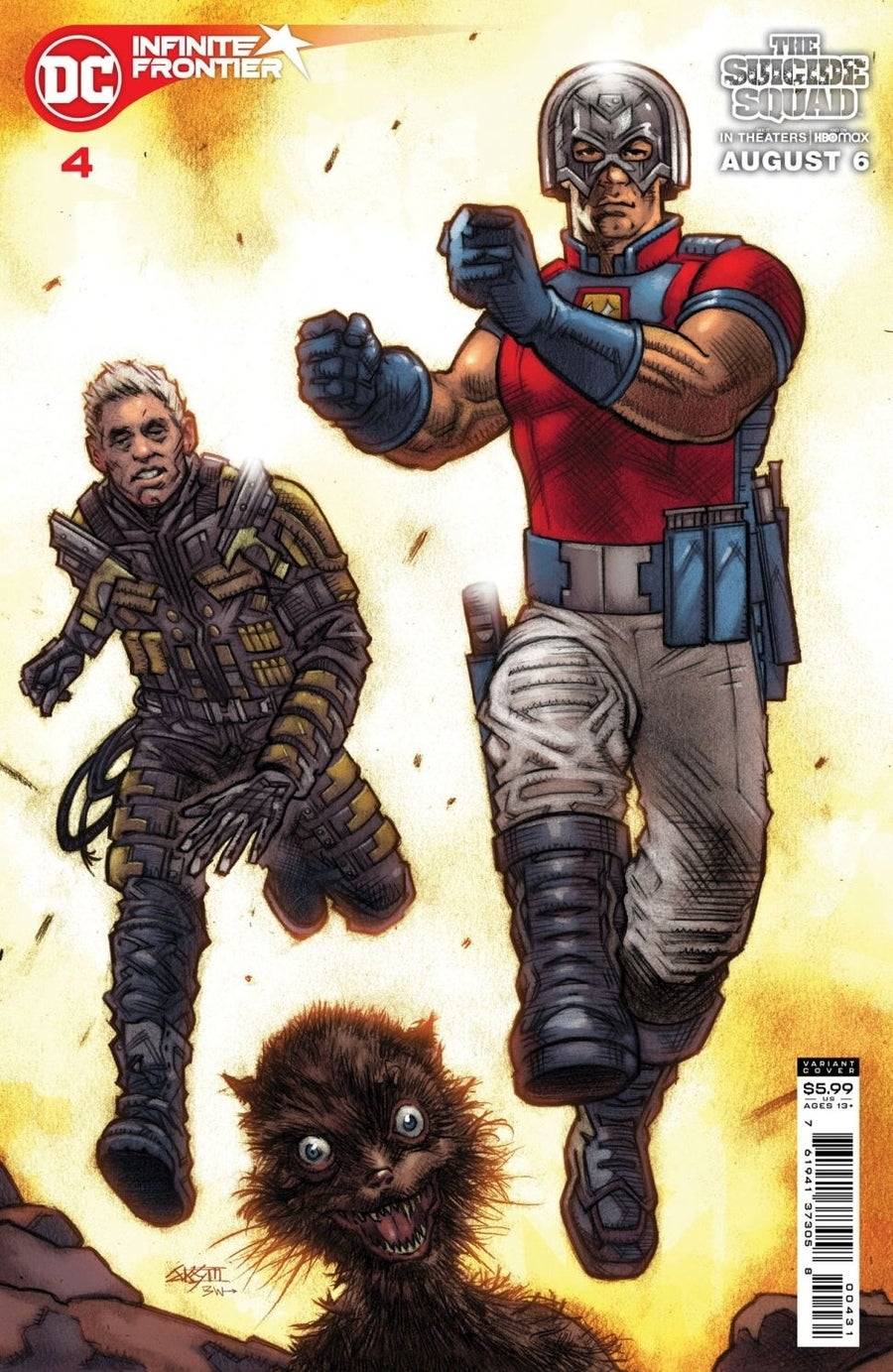 the suicide squad variant covers infinite frontier 4