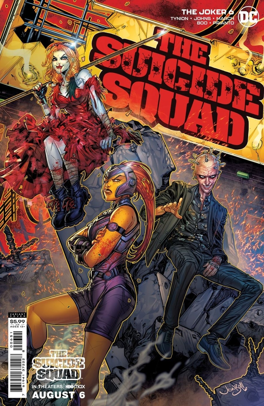the suicide squad variant covers the joker 6