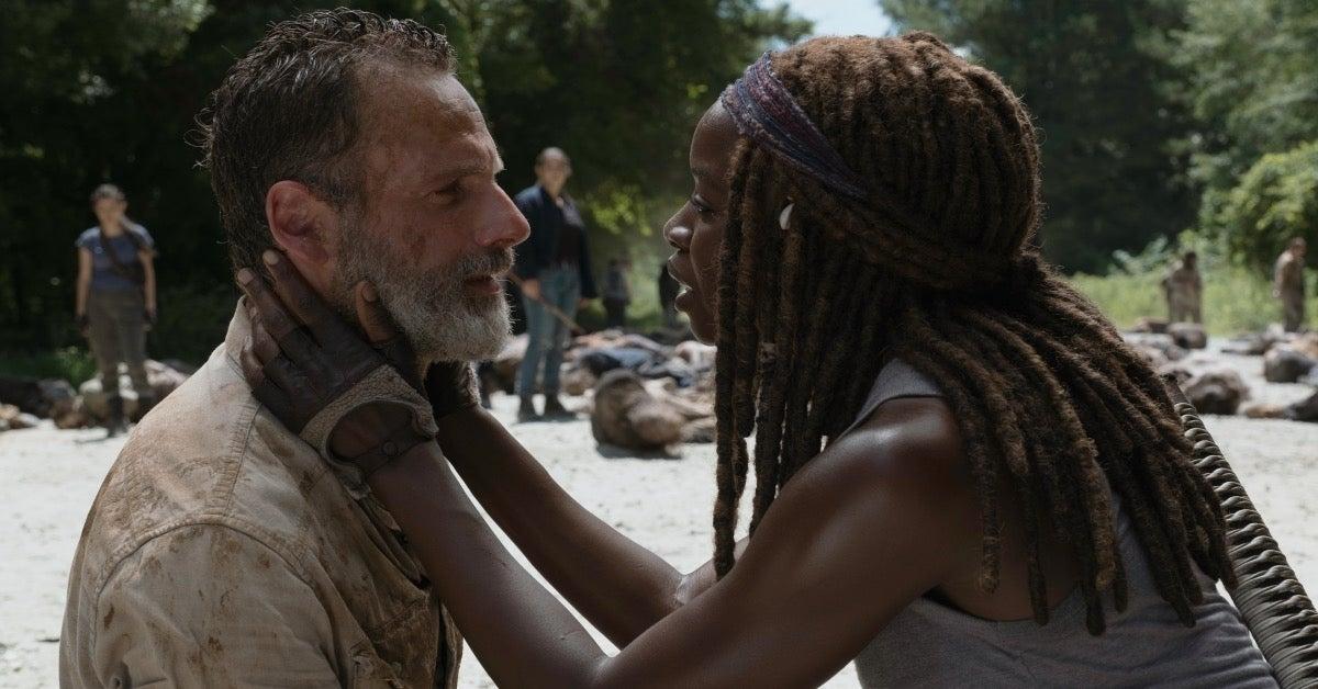 The Walking Dead Danai Gurira Michonne Andrew Lincoln Rick Grimes