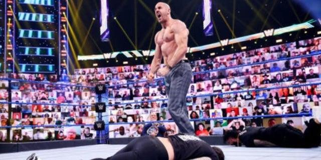 WWE-WrestleMania-Backlash-Cesaro-Roman-Reigns
