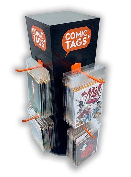 comic tags display