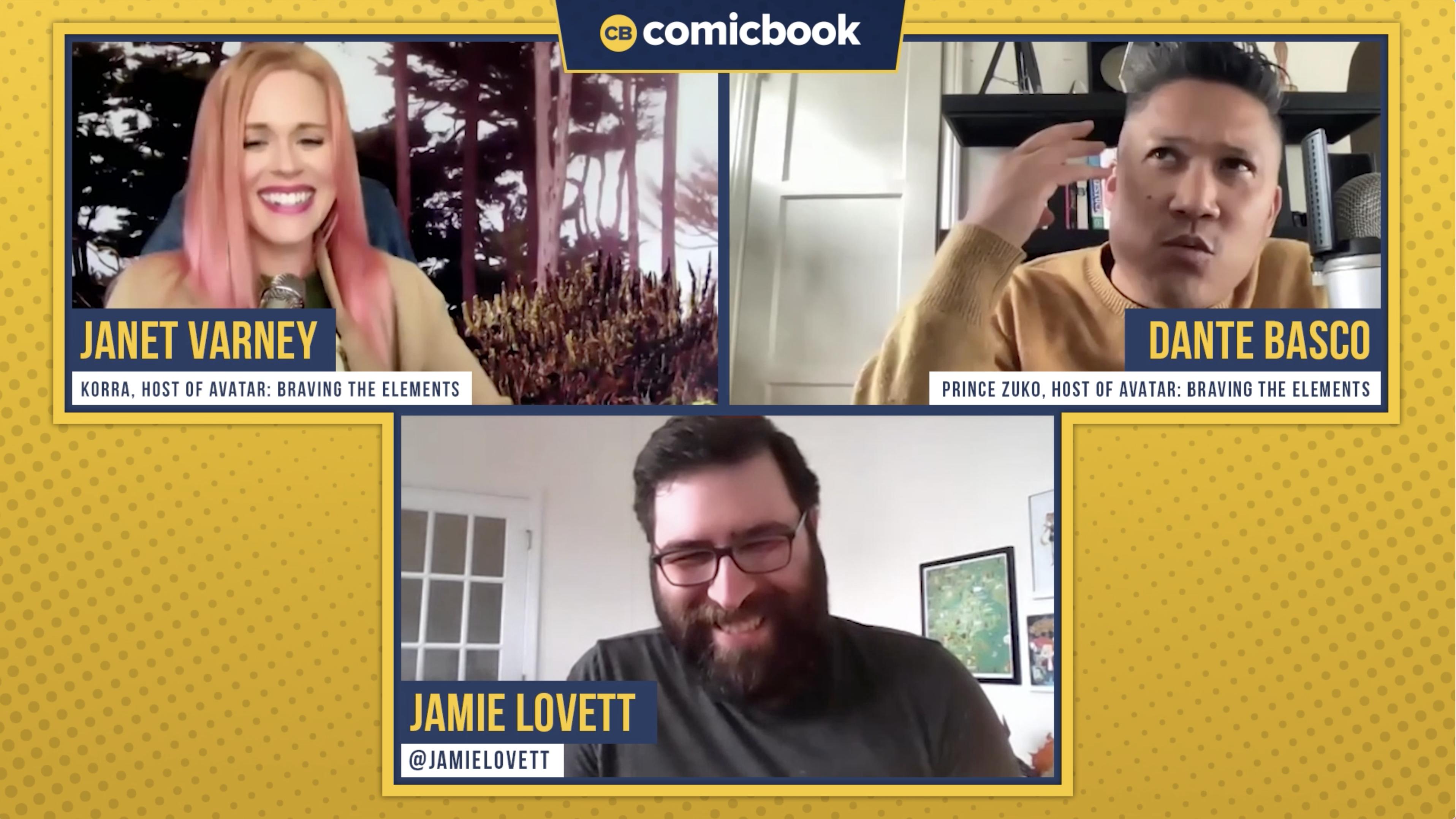 Dante Basco Janet Varney Talk Avatar Braving the Elements - Exclusive Comicbook.com Interview