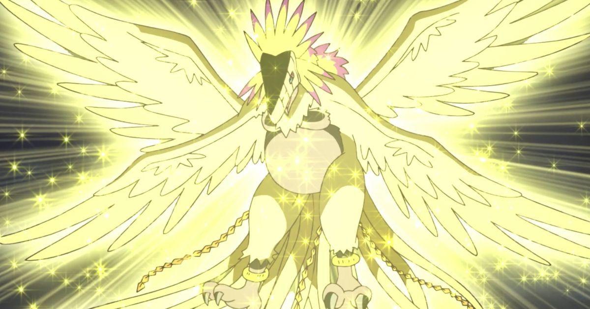 Digimon Adventure Biyomon Piyomon Mega Evolution Hououmon Anime