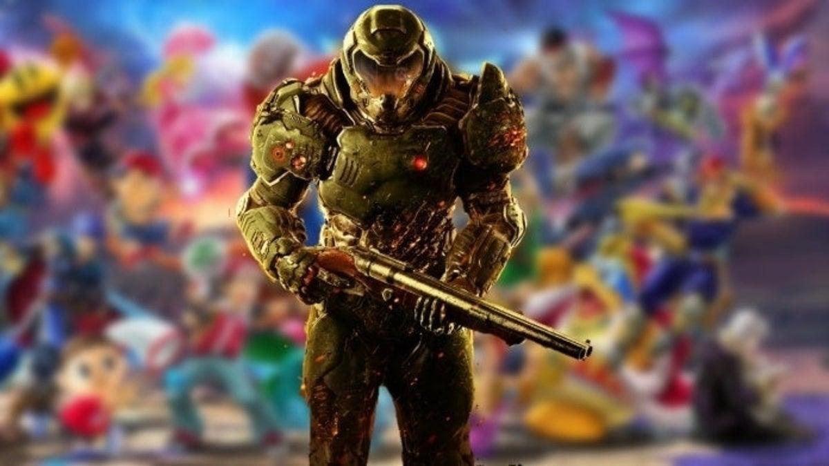 Doomguy Super Smash bros