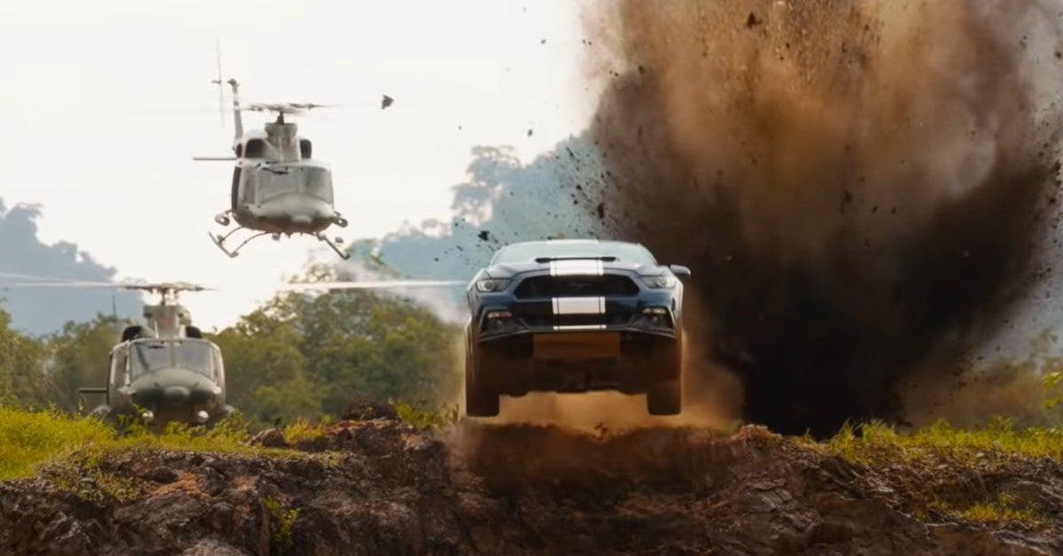 F9 Car Swinging Scene Fast Furious