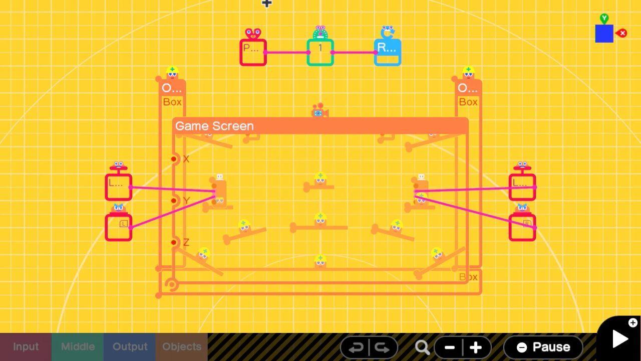 Game Builder Garage Programming Screen