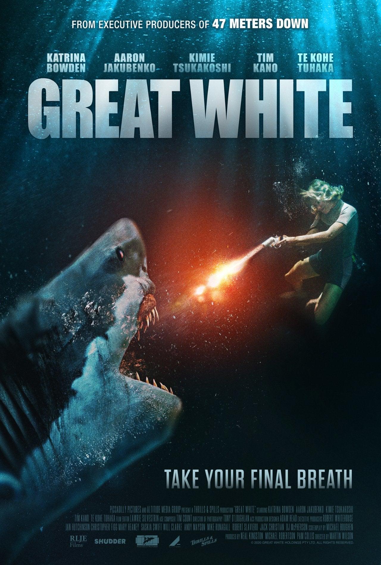 great white movie poster horror film katrina bowden 2021