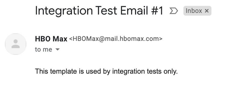 hbo max integration test email
