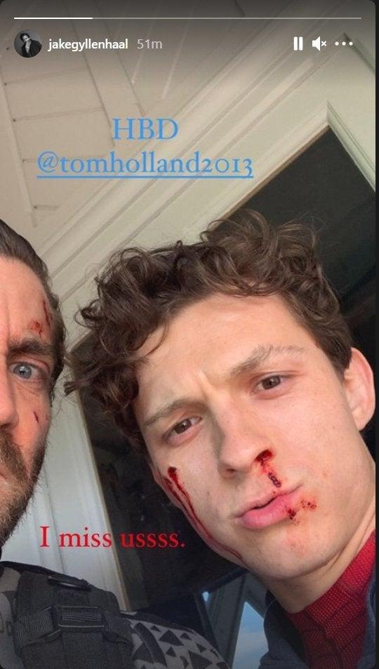 Jake Gyllenhaal Tom Holland Birthday Spider-Man Far From Home