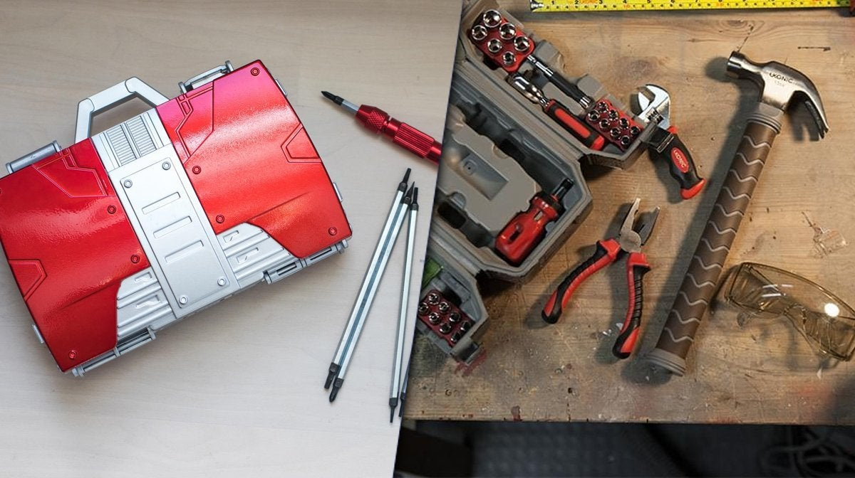 marvel toolset thor hammer iron man 2 briefcase