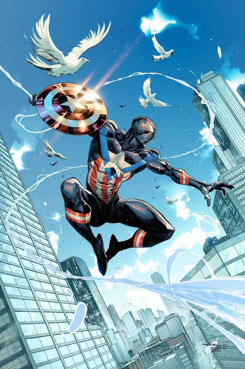 Miles Morales Spider-Man Captain America