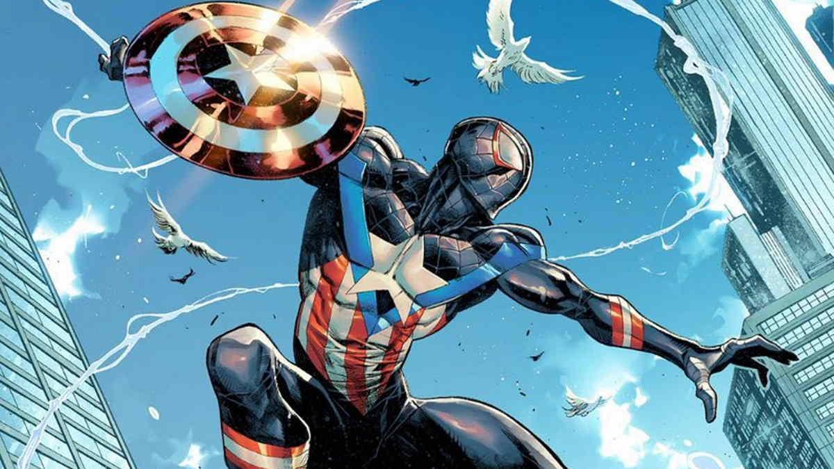 Miles Morales Spider-Man Captain America cover