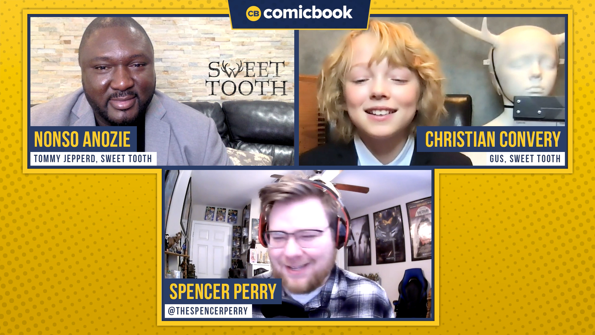 Nonso Anozie and Christian Convery Talk Sweet Tooth