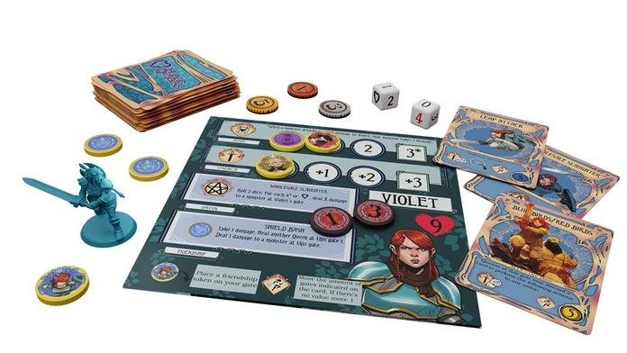 Rat-Queens-To-The-Slaughter-Kickstarter-Violet-Player-Board