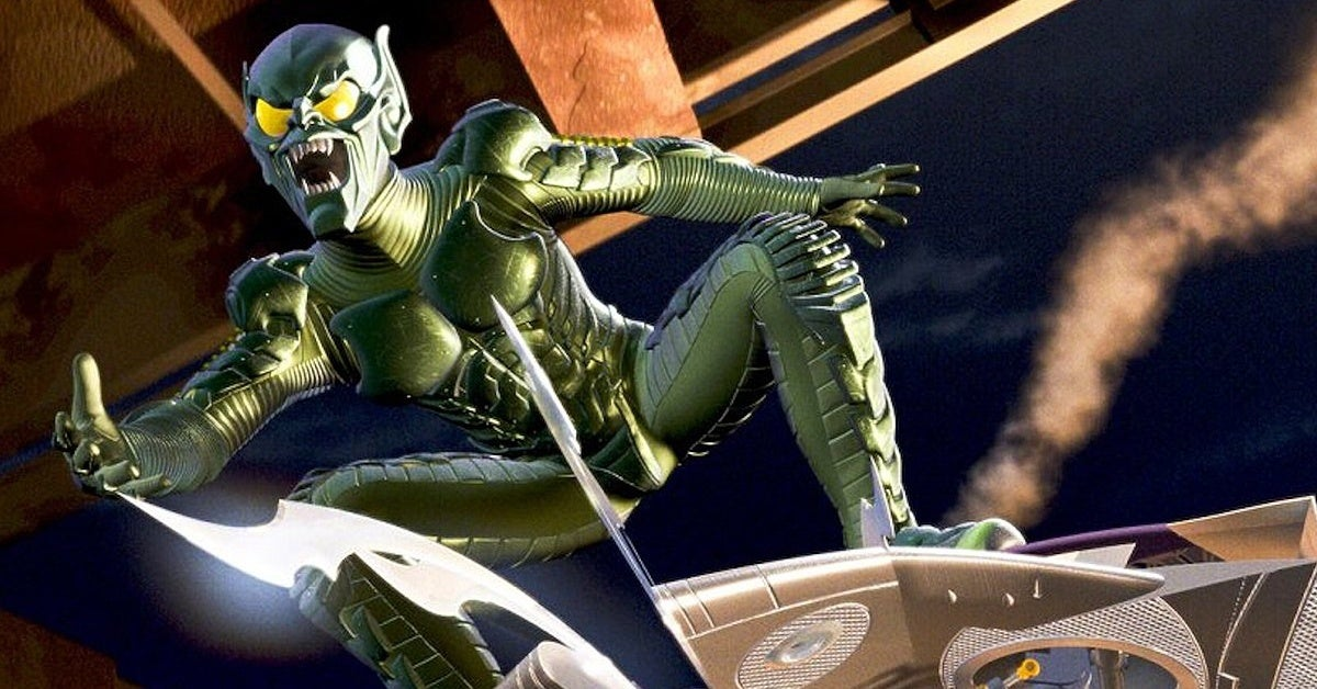 Spider-Man Green Goblin Man Flying Hoverboard NYC Times Square Identified